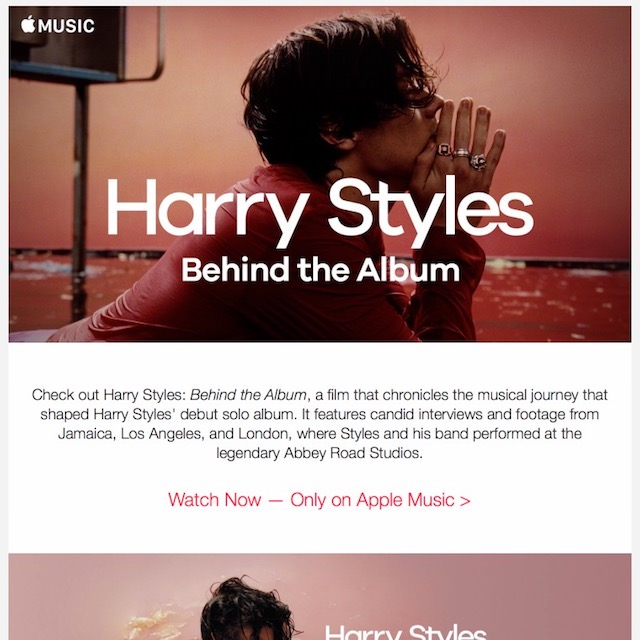 Apple Music Email Template