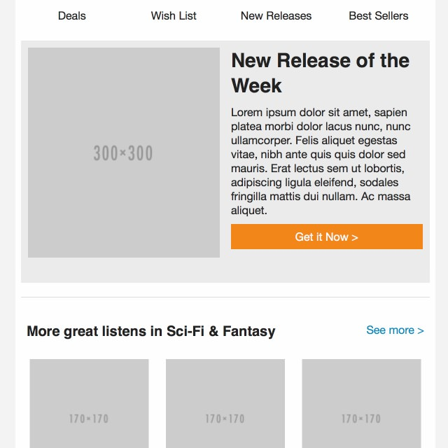 Audible Email Template