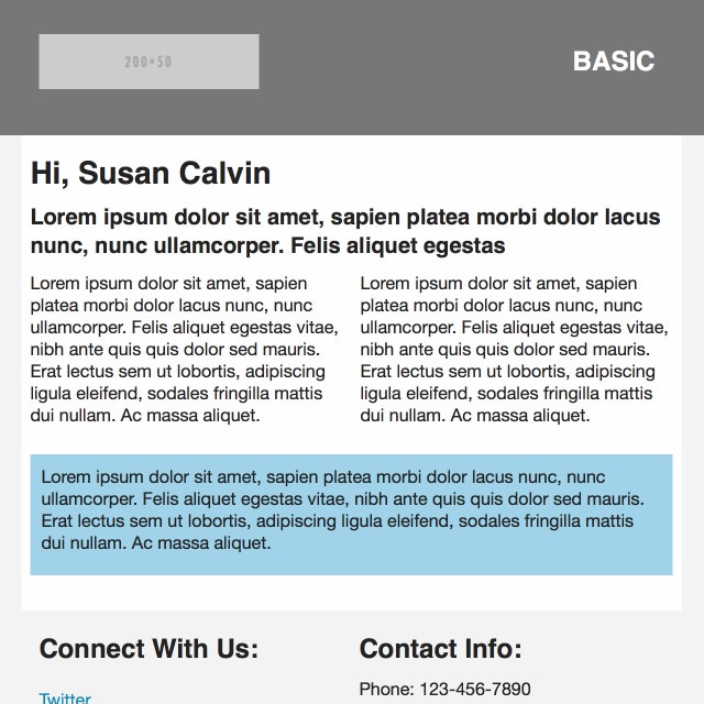 Basic Email Template