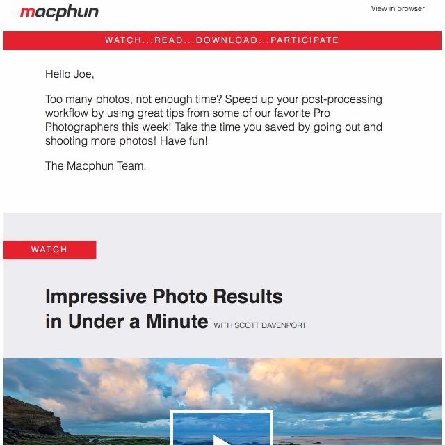 MacPhun Email Template