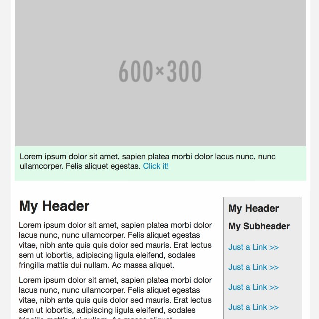 Sidebar Hero Email Template